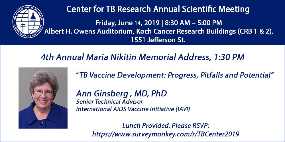 TB Center Annual Meeting | Center for Tuberculosis Research